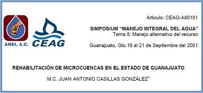 Rehabilitación de microcuencas en el estado de Guanajuato