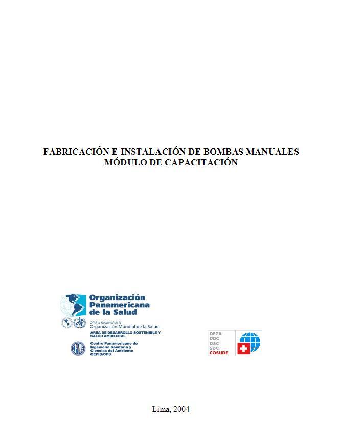 Fabricación e Instalación de bombas manuales