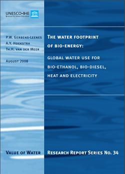 Huella hídrica de los biocombustibles