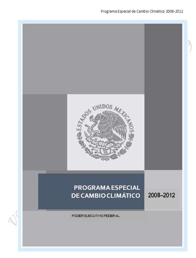 Programa Especial de Cambio Climático 2008-2012