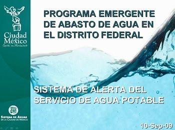 Programa emergente de abasto de agua en el D.F. Sept 09