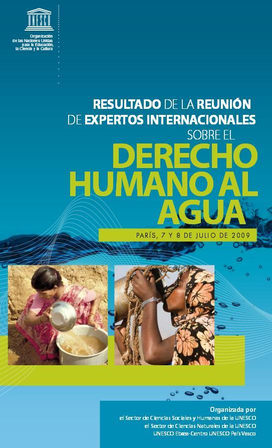 Resultado de la reunión de expertos internacionales sobre el derecho humano al agua