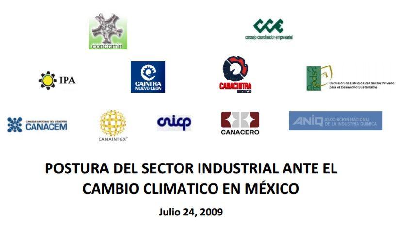 Postura del sector industrial ante el cambio climático en México