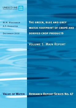 The green, blue and grey water footprint of crops and derived crop products