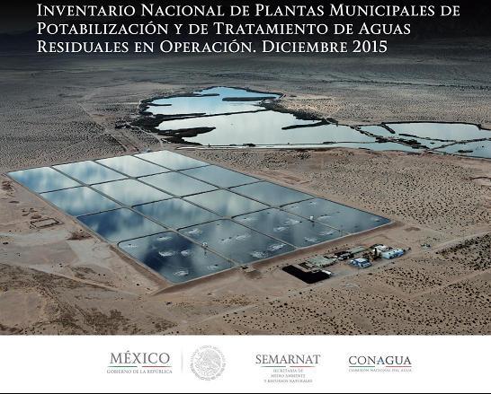 Inventario nacional de plantas municipales de potabilización y de tratamiento de aguas residuales en operación. Diciembre 2015