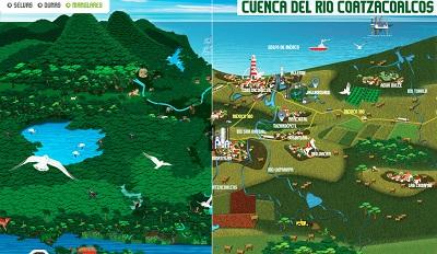 Infografía de la Cuenca del Río Coatzacoalcos