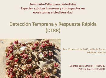 Detección Temprana y Respuesta Rápida de Especies Exóticas Invasoras