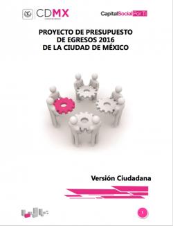 Proyecto de presupuestos de egresos 2016 de la Ciudad de México