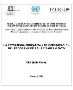 La estrategia educativa y de comunicación del programa de agua y saneamiento