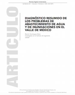 Diagnóstico resumido de los problemas de abastecimiento de agua y de inundaciones en el Valle de México