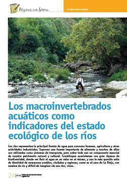 Los macroinvertebrados acuáticos como indicadores del estado ecológico de los ríos