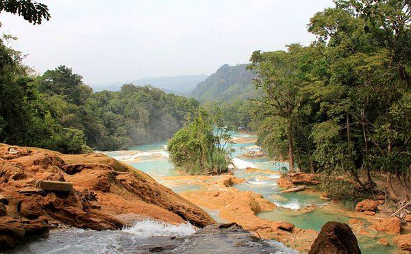 Chiapas: Se seca la principal cascada de Agua Azul (La Jornada)