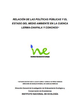 Impacto de políticas públicas sobre el medio ambiente en la Cuenca-Lerma Chapala y Conchos