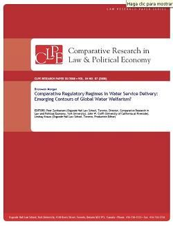 Comparative regulatory regimes in water service delivery: Emerging contours of global water welfarism?