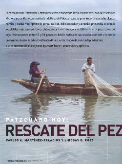 Pátzcuaro hoy: Rescate del pez blanco