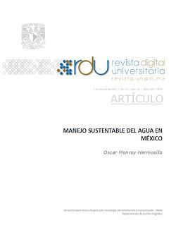 Manejo sustentable del agua en México
