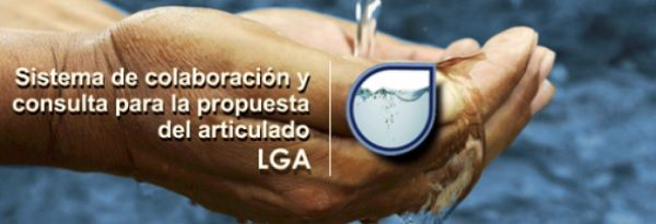 Sistema de colaboración y consulta para la propuesta del articulado Ley General de Aguas