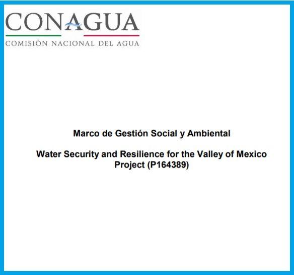 Marco de Gestión Social y Ambiental para el proyecto Resiliencia y Seguridad Hídrica del Valle de México