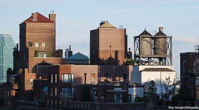 Los depósitos de agua en las azoteas de los edificios de Nueva York: luces y sombras (iAgua)