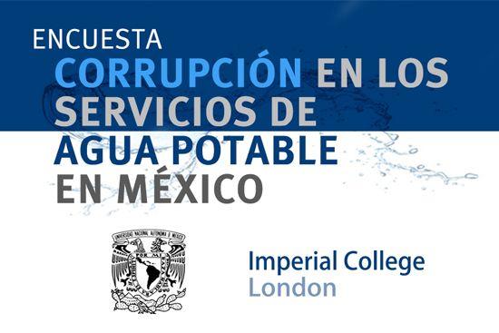 Encuesta: Corrupción en los servicios de agua potable en México