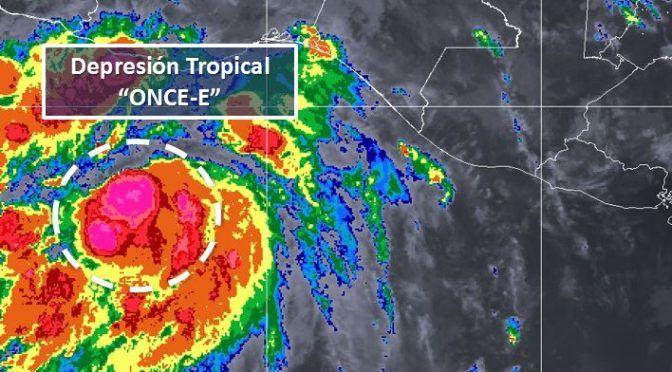 Oaxaca: Alerta azul para costas de Oaxaca por depresión tropical 11-E (La Jornada)