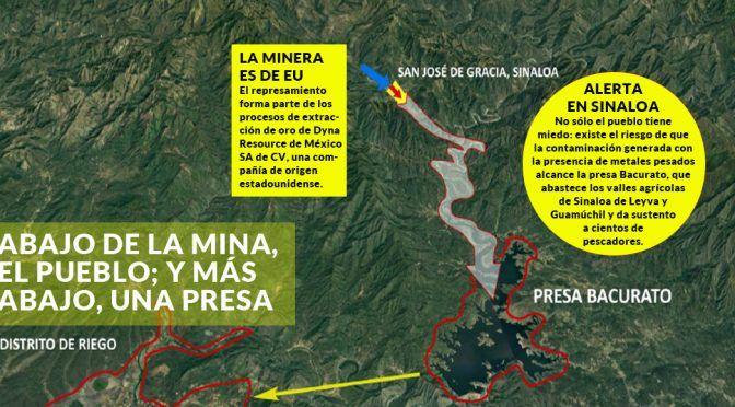 Sinaloa: La minera de EU saca oro y deja tóxicos en una presa; el pueblo cree que una tragedia está cerca (Sin Embargo)