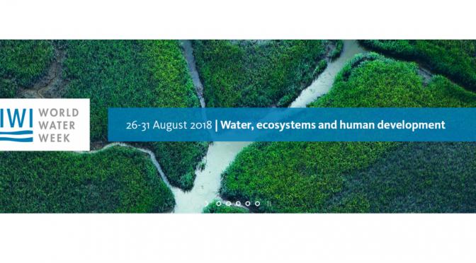 Agua, ecosistemas y desarrollo humano en la Semana Mundial del Agua de Estocolmo