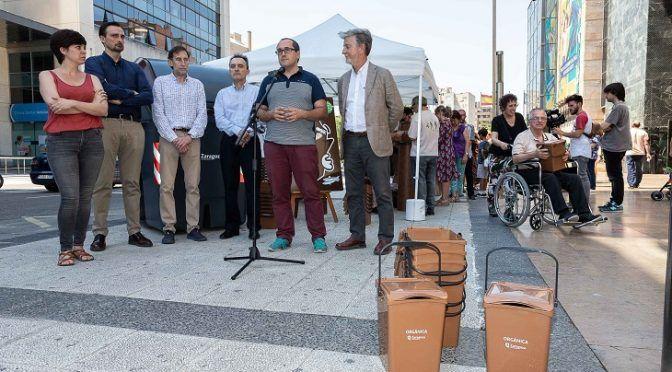 Comienza la campaña sobre recogida selectiva de residuos orgánicos en el centro de Zaragoza (Ecoticias)