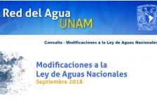 Consulta – Modificaciones a la Ley de Aguas Nacionales (Red del Agua UNAM)
