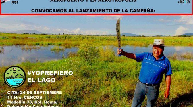 Lanzan campaña en redes contra NAICM (La Jornada)