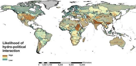El mapa que muestra dónde se lucharán violentas guerras por el agua en el futuro (Cultura Colectiva)