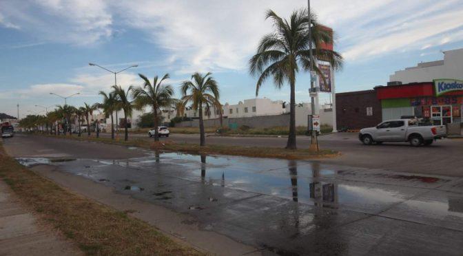 Se tira agua por fugas en Mazatlán y nadie acude a reparalas (Noroeste)