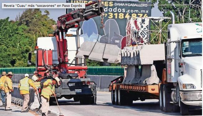 Destapa Cuau más irregularidades en Paso Exprés de Morelos (El Universal)