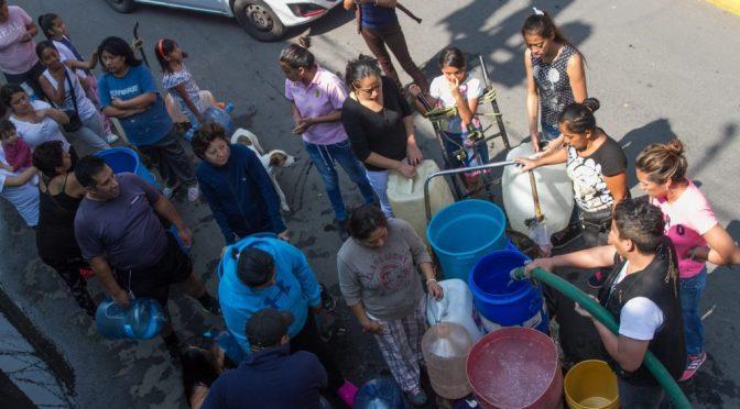 Falta de pago no provocará corte de agua; pero sí baja de suministro: Congreso de la CDMX (Reporte Indigo)