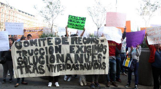 Dan apoyos para renta y reconstrucción por sismos en CDMX (La Jornada)