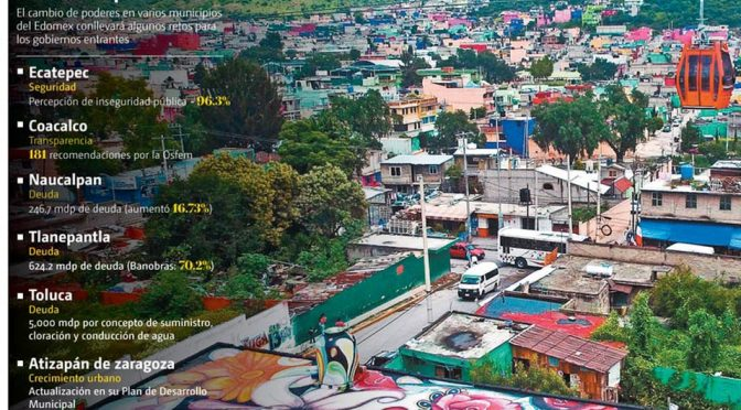 Dejan municipios mexiquenses con deuda, pobreza y violencia (Milenio)