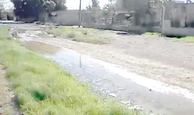 Oaxaca: Reportan añeja fuga de agua (La Tarde)
