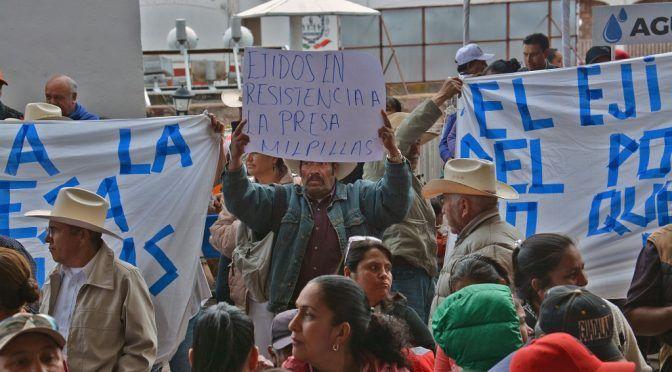 Ejidatarios de Zacatecas piden a AMLO no construir presa Milpillas (La Jornada)