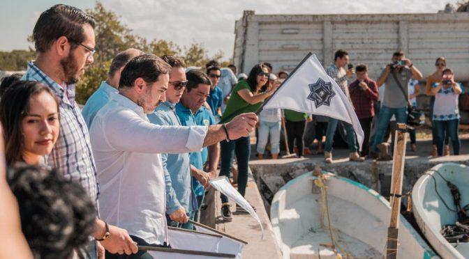 Yucatán: Dan banderazo al Programa permanente de limpieza de manglares y refugios pesqueros (Yucatán a la Mano)