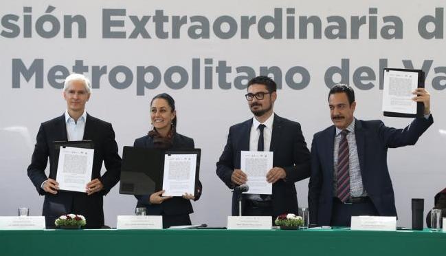 Acuerdan CDMX, Edomex e Hidalgo coordinación ante problemas metropolitanos (El Universal)