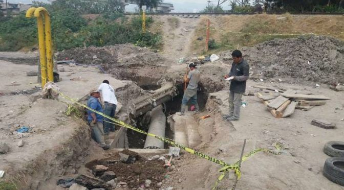 Después de nueve años, reparan megafuga de agua en Ecatepec (El Sol de México)