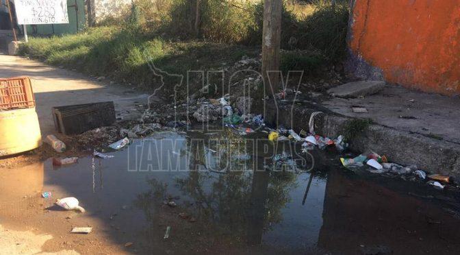 Vecinos denuncian fuga de aguas negras en Ciudad Victoria (Hoy Tamaulipas)