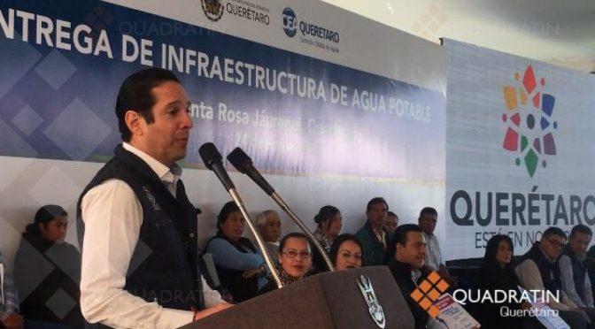 Entregan infraestructura de agua potable en Santa Rosa Jáuregui (Quadrantín)