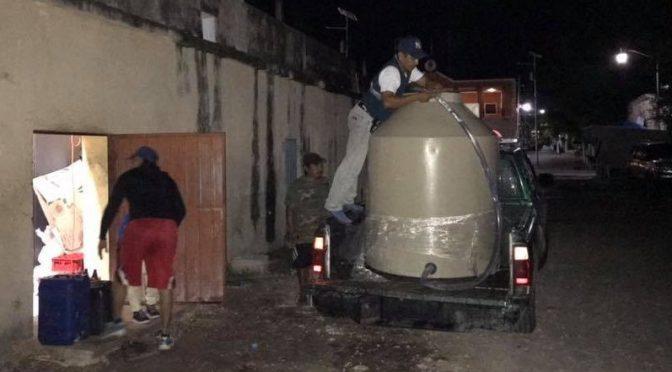 Los habitantes de Tinum siguen sin agua potable (Diario de Yucatán)