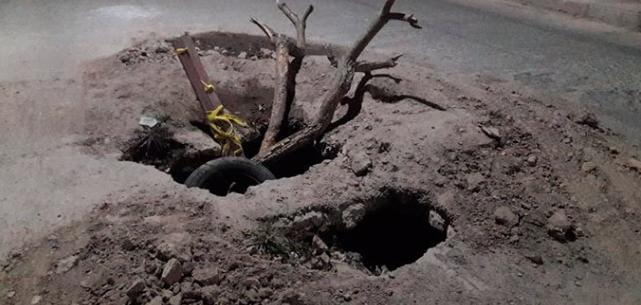 San Luis Potosí: Fugas de agua crean túnel en la Col. Popular (Pulso)