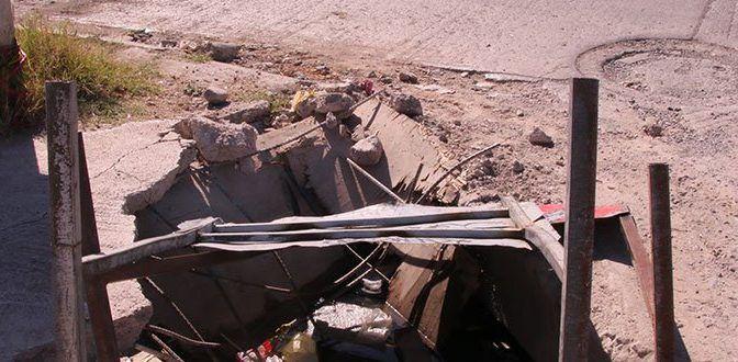 San Luis Potosí: Despilfarro de agua por fuga en Fray J. de Gauna (Pulso)