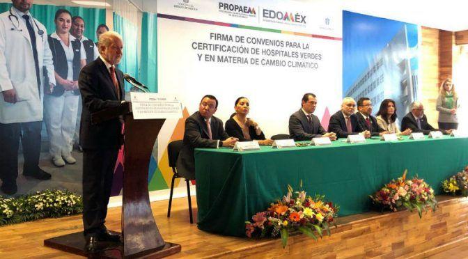 Firman convenio Secretarías del Medio Ambiente y de Salud para certificar red de hospitales verdes (24 Horas)