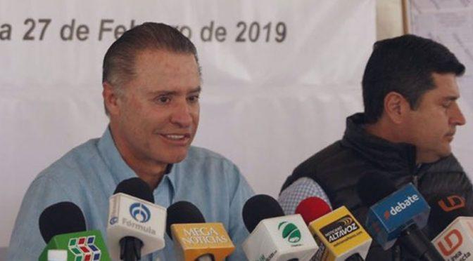 Quirino Ordaz anuncia inversión de 120 mdp para colectores pluviales en Sinaloa (LNN)