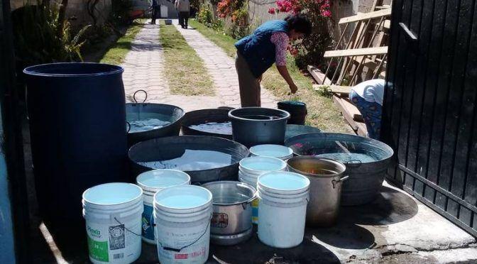 Intervienen Capach en desabasto de agua potable en Texcacoac y distribuye pipas (El Sol de Tlaxcala)