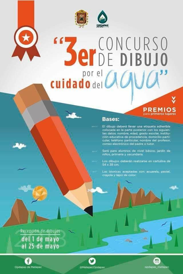 Metepec: 3er Concurso de Dibujo por el Cuidado del Agua